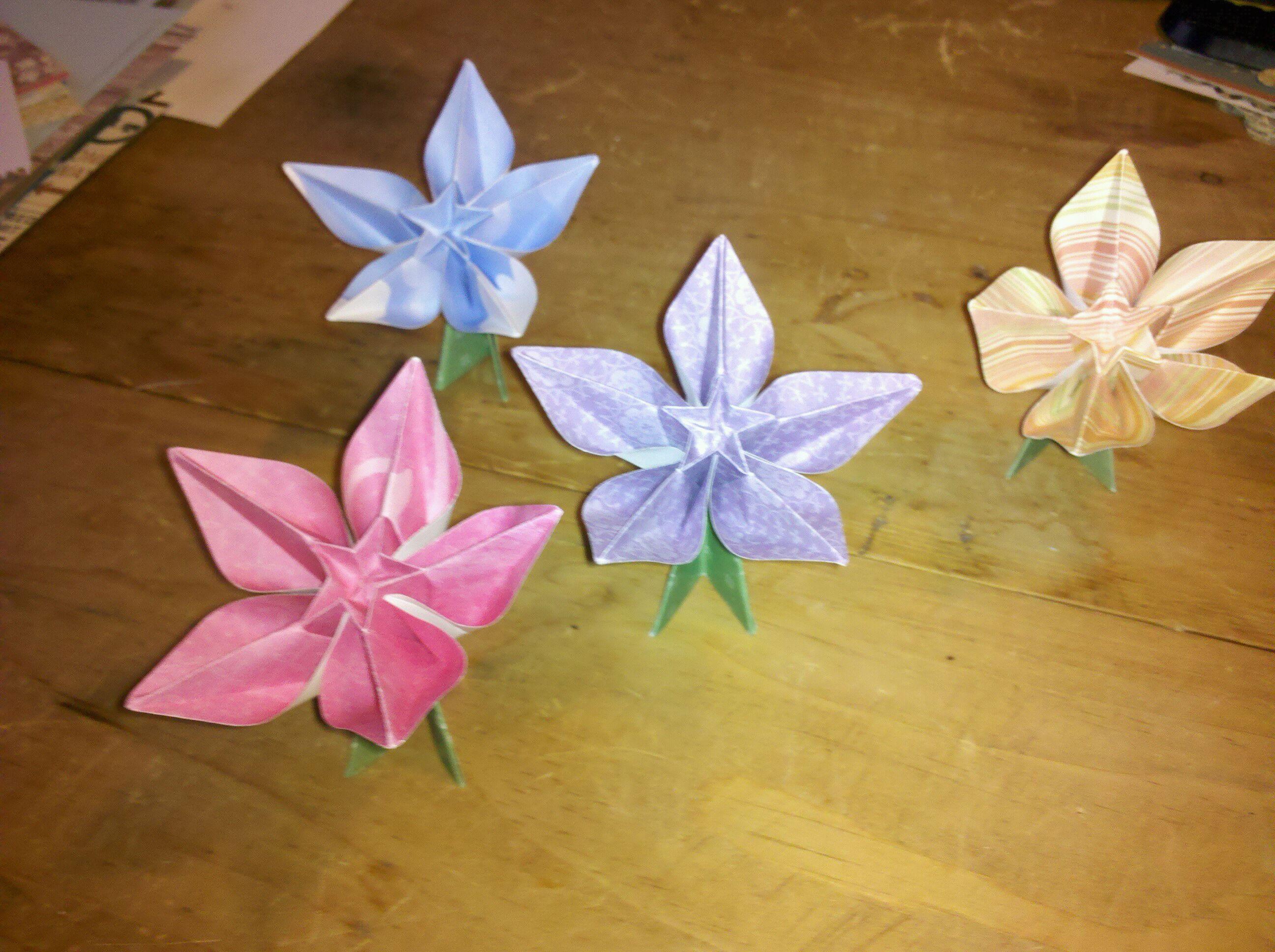 Springtime Origami Flowers Scrapbookaloo Blog